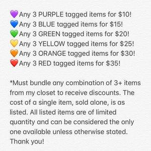 💜💙💚💛🧡❤️Tagged Items Info!